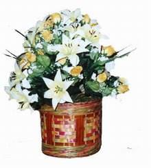 yapay karisik çiçek sepeti   Artvin cicekciler , cicek siparisi