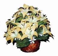 yapay karisik çiçek sepeti   Artvin çiçek siparişi sitesi
