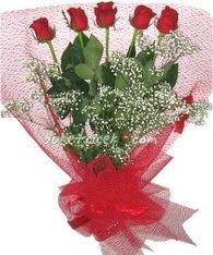 5 adet kirmizi gülden buket tanzimi  Artvin çiçek yolla