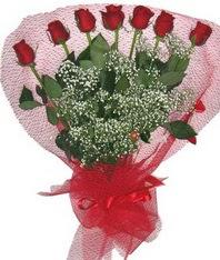 7 adet kipkirmizi gülden görsel buket  Artvin çiçek mağazası , çiçekçi adresleri
