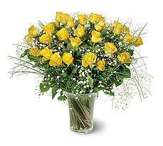 Artvin çiçek siparişi sitesi  15 adet sarigül mika yada cam vazoda