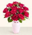 Artvin hediye çiçek yolla  10 kirmizi gül cam yada mika vazo tanzim