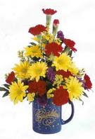 Artvin çiçekçiler  seramikte mevsim çiçekleri