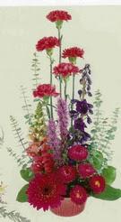Artvin çiçekçi mağazası  mevsim çiçeklerinden sepet