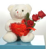 3 adetgül ve oyuncak   Artvin online çiçekçi , çiçek siparişi