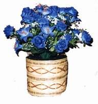 yapay mavi çiçek sepeti  Artvin cicekciler , cicek siparisi