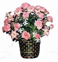 yapay karisik çiçek sepeti  Artvin çiçek online çiçek siparişi