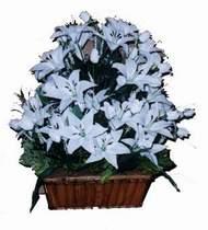 yapay karisik çiçek sepeti   Artvin online çiçek gönderme sipariş