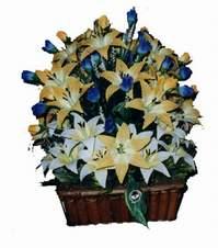 yapay karisik çiçek sepeti   Artvin çiçek gönderme