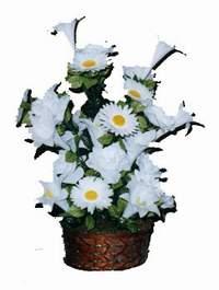 yapay karisik çiçek sepeti  Artvin çiçek siparişi vermek