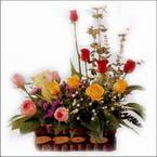sepette karisik aranjman   Artvin hediye sevgilime hediye çiçek
