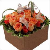 kare sandikta 11 gülllerden   Artvin çiçekçi mağazası