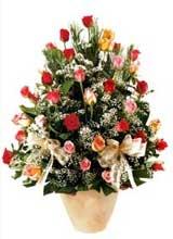 91 adet renkli gül aranjman   Artvin çiçek gönderme sitemiz güvenlidir