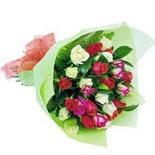 12 adet renkli gül buketi   Artvin çiçek gönderme sitemiz güvenlidir