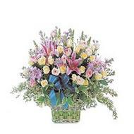 sepette kazablanka ve güller   Artvin çiçek gönderme