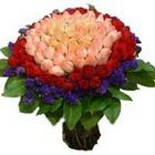 71 adet renkli gül buketi   Artvin ucuz çiçek gönder