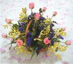 Artvin çiçek yolla  pembe güllerden sepetde