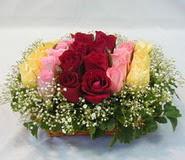 15 adet reprenkli gül sepeti   Artvin çiçek yolla