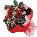 Artvin internetten çiçek satışı  KIRMIZI AMBALAJ BUKETINDE 12 ADET GÜL