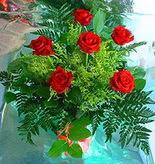 6 adet kirmizi gül buketi   Artvin online çiçek gönderme sipariş