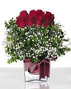 Artvin çiçek , çiçekçi , çiçekçilik  11 adet gül mika yada cam - anneler günü seçimi -