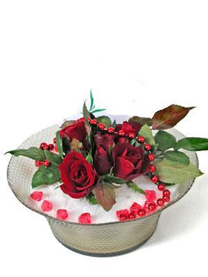 Artvin çiçek siparişi vermek  EN ÇOK Sevenlere 7 adet kirmizi gül mika yada cam tanzim