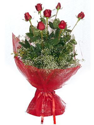Artvin çiçek servisi , çiçekçi adresleri  7 adet gülden buket görsel sik sadelik