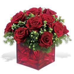 Artvin çiçek yolla  9 adet kirmizi gül cam yada mika vazoda