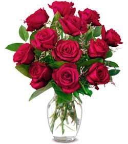 Artvin online çiçek gönderme sipariş  1 düzine kirmizi gül sevenlere özel vazo gülleri