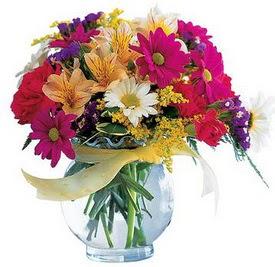 Artvin internetten çiçek satışı  cam yada mika içerisinde karisik mevsim çiçekleri