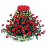 Artvin kaliteli taze ve ucuz çiçekler  41 adet kirmizi gülden sepet tanzimi