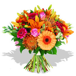 Artvin çiçekçi telefonları  Karisik kir çiçeklerinden görsel demet
