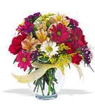 Artvin çiçek , çiçekçi , çiçekçilik  cam yada mika vazo içerisinde karisik kir çiçekleri