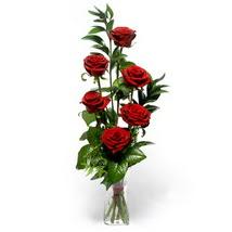 Artvin çiçek siparişi sitesi  cam yada mika vazo içerisinde 6 adet kirmizi gül
