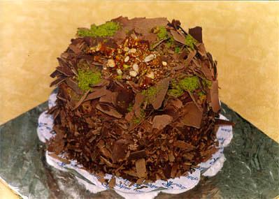 Çikolatali 4 ila 6 kisilik yas pasta  Artvin çiçek gönderme sitemiz güvenlidir