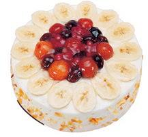 Meyvali 4 ile 6 kisilik yas pasta leziz  Artvin ucuz çiçek gönder