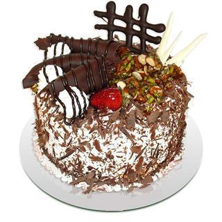 4 ile 6 kisilik çikolatali yas pasta  Artvin kaliteli taze ve ucuz çiçekler