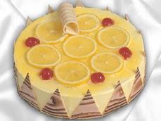 taze pastaci 4 ile 6 kisilik yas pasta limonlu yaspasta  Artvin online çiçek gönderme sipariş