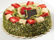 pasta gönder  4 ile 6 kisilik karisik meyvali yas pasta  Artvin internetten çiçek siparişi