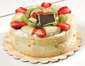 pasta siparisi 4 ile 6 kisilik karisik meyvali yas pasta  Artvin çiçek servisi , çiçekçi adresleri