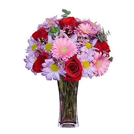 Görsel hediye karisik cam mevsim demeti  Artvin çiçekçi mağazası