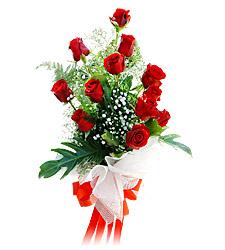 11 adet kirmizi güllerden görsel sölen buket  Artvin çiçek siparişi vermek