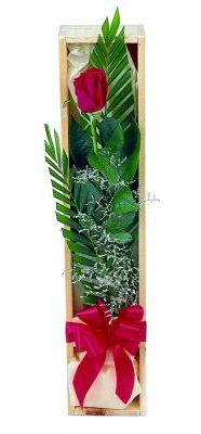 1 adet kutuda kirmizi gül  Artvin çiçek gönderme sitemiz güvenlidir