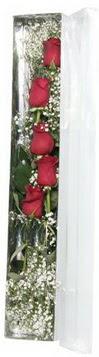 Artvin çiçek siparişi sitesi   5 adet gülden kutu güller