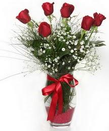 7 adet gülden cam içerisinde güller  Artvin 14 şubat sevgililer günü çiçek