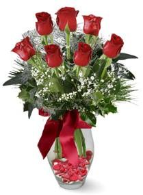 7 adet vazoda gül  Artvin internetten çiçek satışı  kirmizi gül