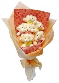 12 adet ayiciktan buket  Artvin çiçek siparişi sitesi