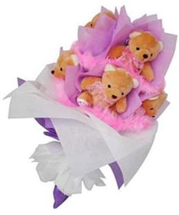 9 adet ayiciktan buket  Artvin hediye sevgilime hediye çiçek