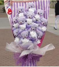 11 adet pelus ayicik buketi  Artvin çiçek gönderme sitemiz güvenlidir