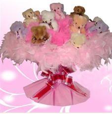 11 adet pelus ayicik buketi  Artvin çiçek satışı
